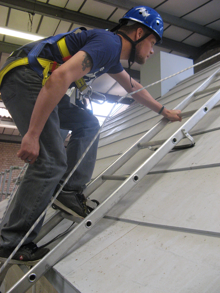 Roof Ladder Restraint & Fall Arrest Safety System | CSS Worksafe
